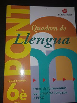 Quadern de Llengua 6è.