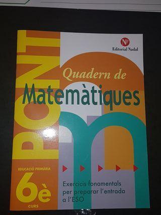 Quadern Matemàtiques 6è