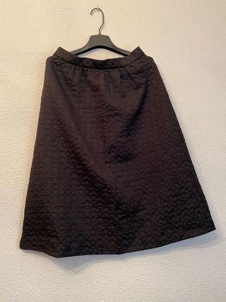 Falda midi textura