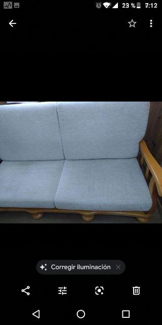 sofá madera maciza