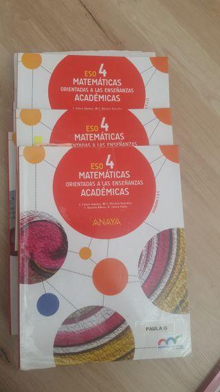 libros 4 eso matematicas