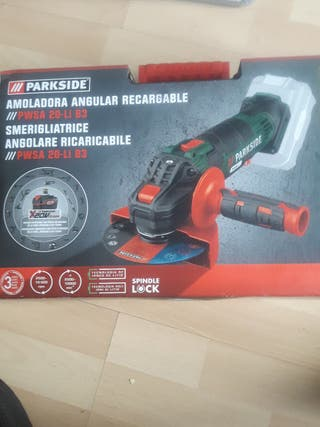 AMOLADORA ANGULAR RADIAL RECARGABLE PARKSIDE