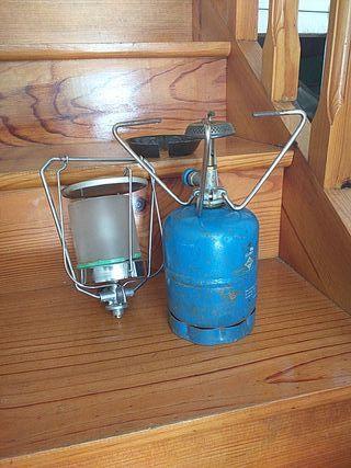 hornillo y candil para camping