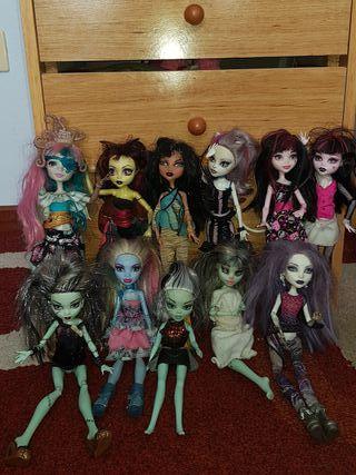 Muñecas Monster High (11 en total)