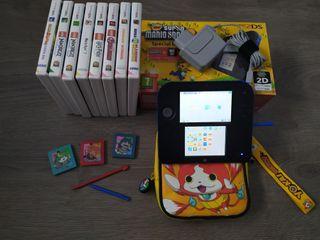 Consola Nintendo 2DS con 9 juegos