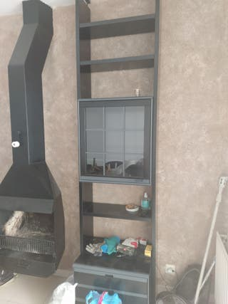 Muebles comedor negros armarios espejos