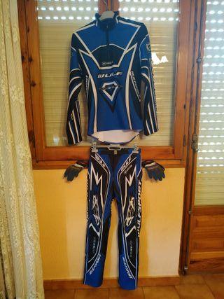 Traje moto Trial y guantes ( niño)