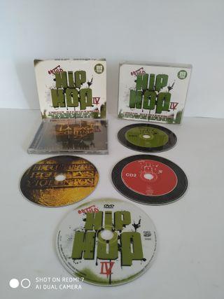 HIP HOP MUSICA RAP CD DVD COLECCION DE 10 DISCOS