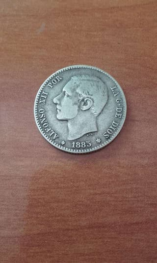 1 peseta 1885 estrellas 1885