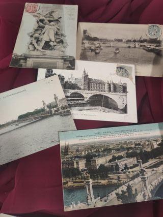 postales o cartas postales de Paris y Versalles