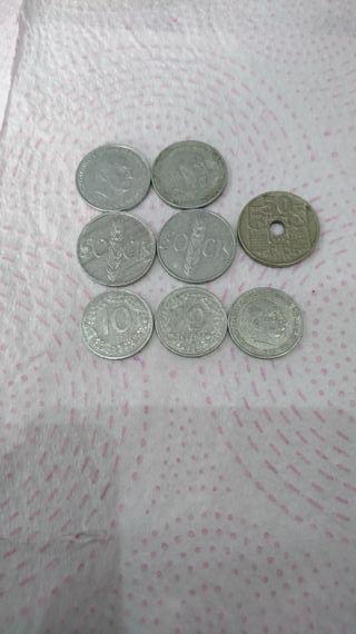 monedas centimos Franco