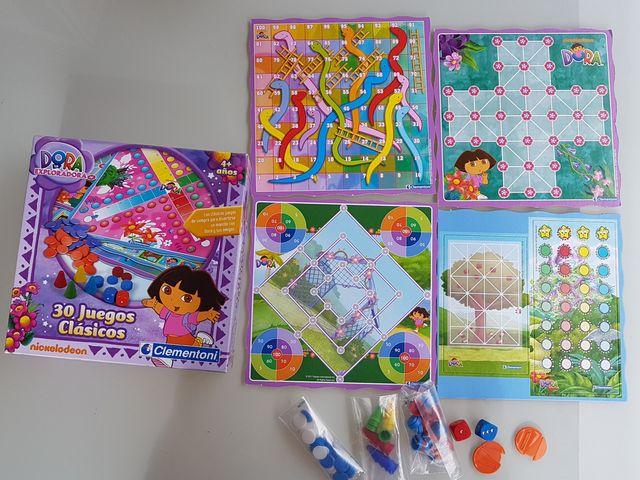 30 juegos clásicos Dora La Exploradora Clementoni