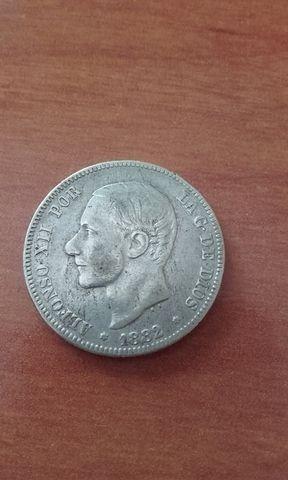 2 pesetas 1882 estrellas 1882
