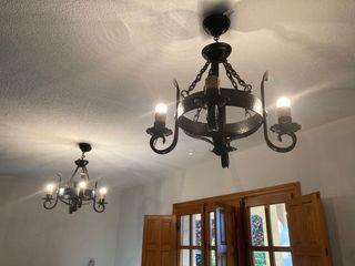 1 Lámpara de forja ( vendo 2 iguales)