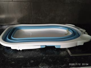 bañera plegable y hamaca balancin