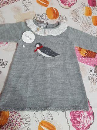 Vestido tricot 12 a 18 meses Dulces