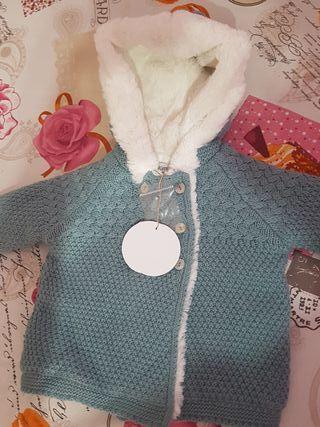 Abrigo tricot 6 a 12 meses Dulces