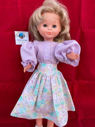 Vestido nancy peinados años 80
