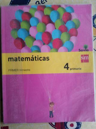 Pack de 3 libros de 4°primaria de matemáticas, SM