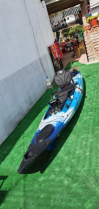 kayak marlin+motor y sonda