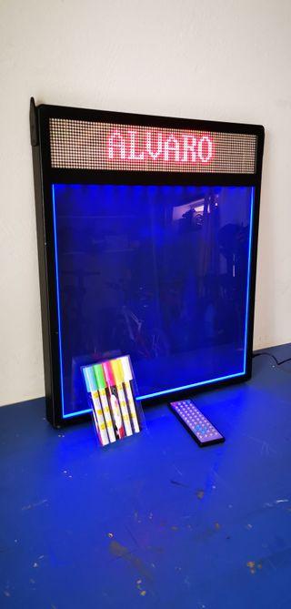 PIZARRA DE LED Y Retroiluminscion de colores