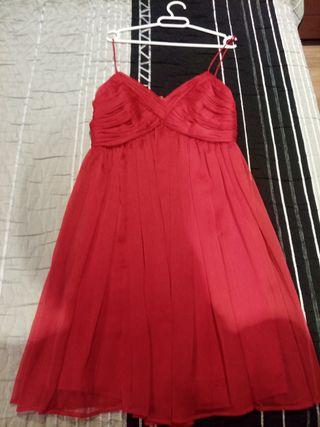 vestido de mango rojo mujer talla m