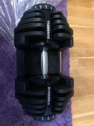 Mancuernas dumbble ajustables 40kg negras