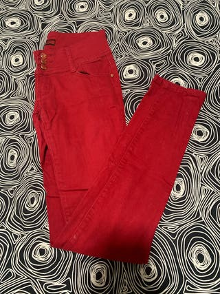 Pantalones rojos talla 38