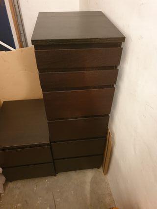 Cómoda Malm 6 cajones con espejo de Ikea