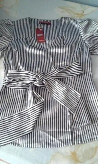Camisa Raso Rayas Talla M/L