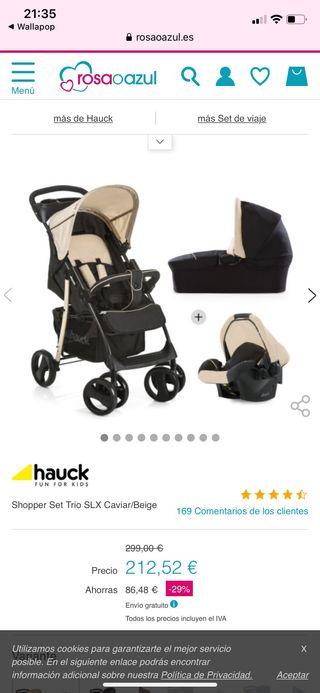 Carrito bebe 3 en 1 Hauck