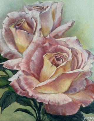 Cuadro Óleo rosas