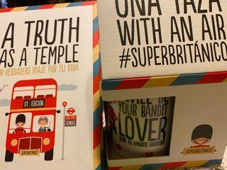 Libro y Taza Superbritánico. Nuevos.