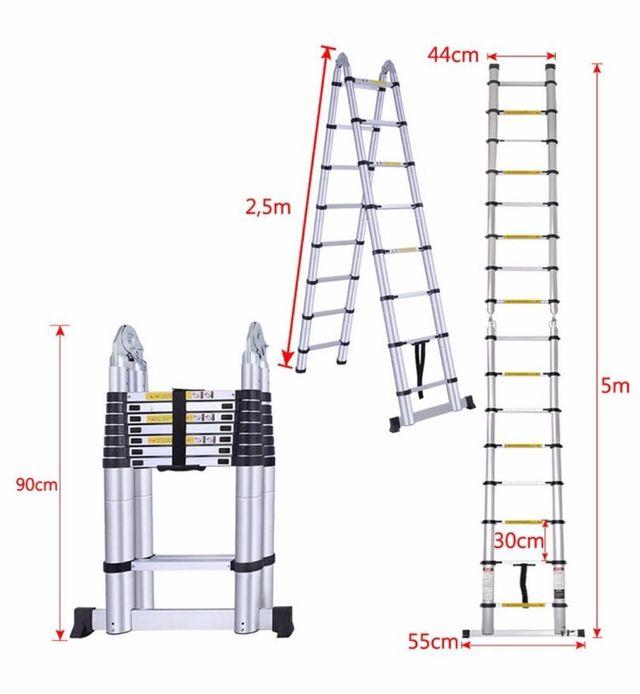 Escalera telescópica nueva