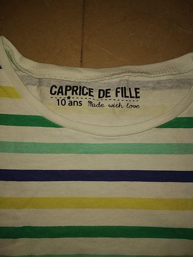 camiseta algodón niños unisex talla 10 años