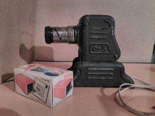 proyector antiguo + visor 35mm