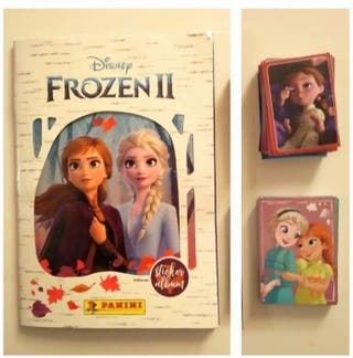 frozen 2 àlbum + 133 cromos y cartas