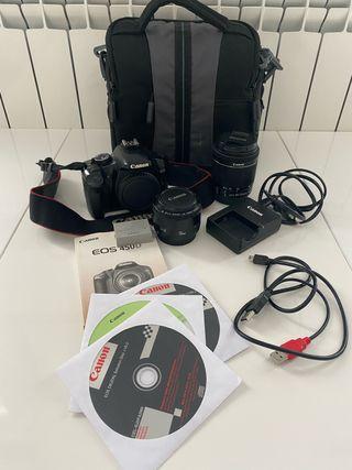 Cámara Réflex Canon eos 450D +18-55 mm+50mm