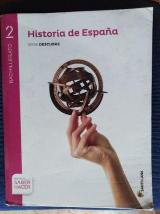 Libro de Historia de 2°de bachillerato