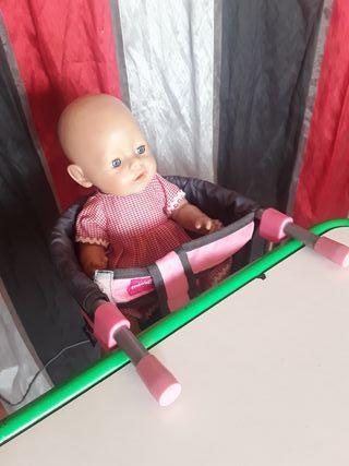 muñeca Bany born y trona