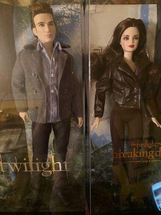 2 Barbie Saga Crepúsculo. Edward y Bella. Nuevos.
