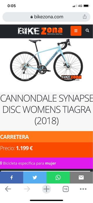 CANNONDALE SYNAPSE DISC WOMENS