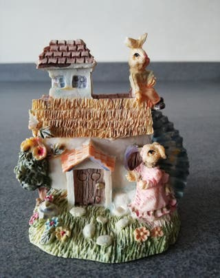 Casita mini conejitos vintage