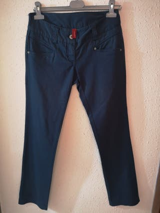 Pantalón azul mujer