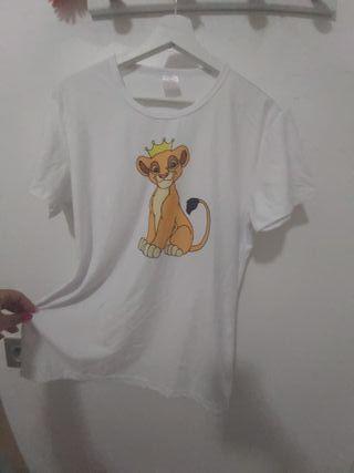 camiseta rey león talla L