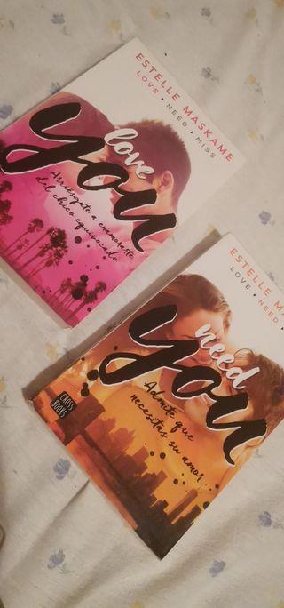 dos primeros libros triología you