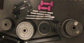 Soporte halteras, barras y pesas