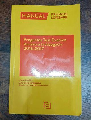 Libro preguntas test examen abogacía
