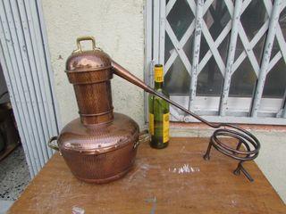 Alambique alquitara cobre 6 litros completo