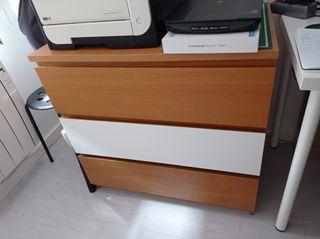 Cómoda de 3 cajones Malm Ikea